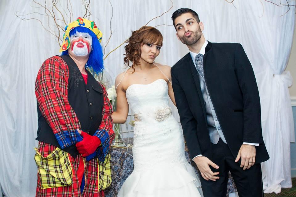 Payaso Pikorete en una boda