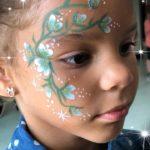 Pompita-Face-Painter-con-las-Cheerleaders-en-St-Cloud-Fl-Cerca-de-Orlando-y-Kissimmee