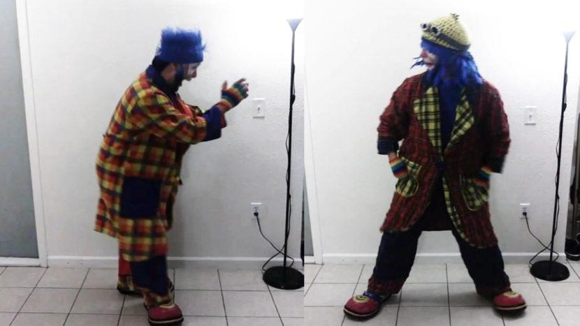 Payaso Pikorete y su gemelo bailando al son de Calabria Enur en Orlando Florida