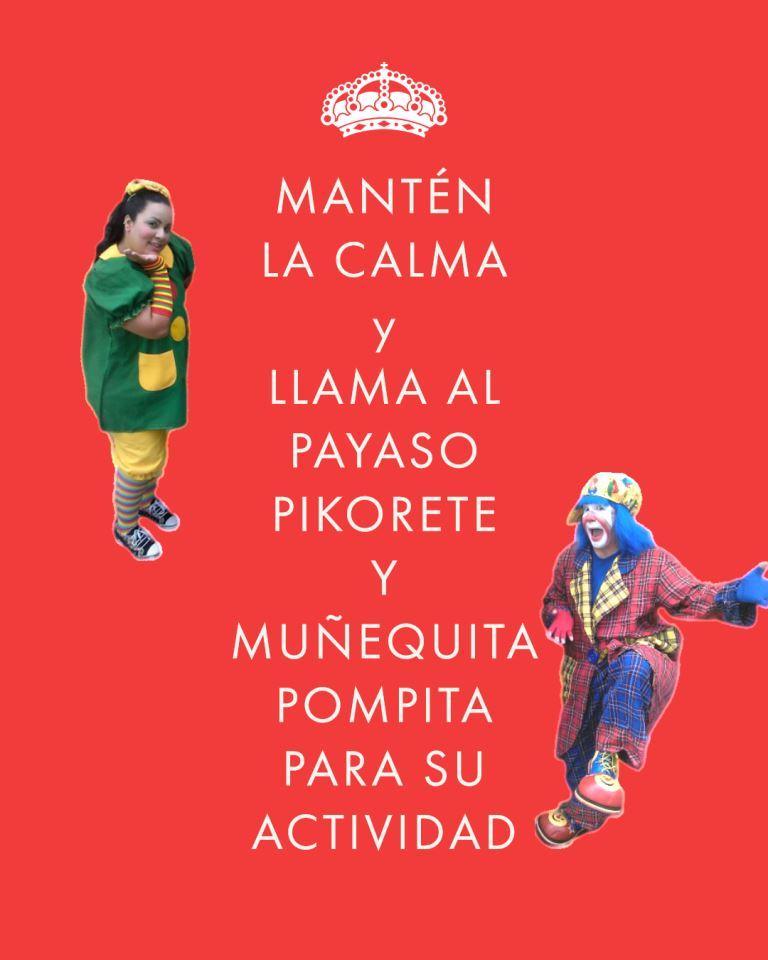 Mantén La Calma Y Llama Al Payaso Pikorete Y Muñequita Pompita Para Su Actividad en Florida
