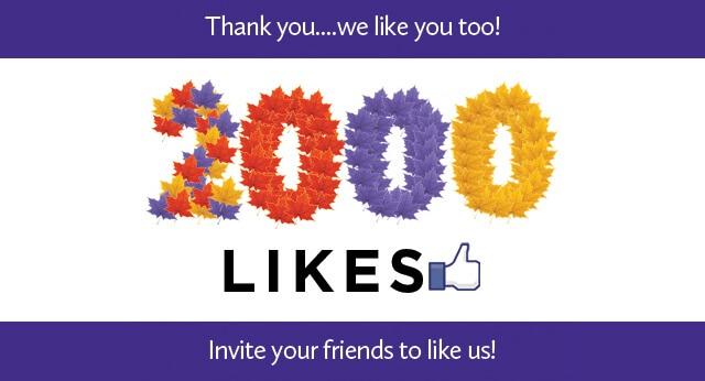 Gracias mi gente linda por los 2,000 likes en nuestra página en Facebook