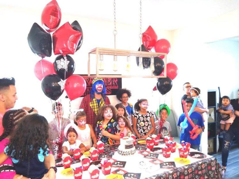 Payaso Pikorete y Muñequita Pompita en el Cumpleaños de Daiara en Orlando Fl