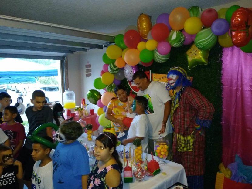 Payaso Pikorete y Muñequita Pompita en Cumpleaños de Jaideliz en Jacksonville Fl