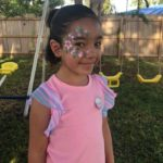 Muñequita Pompita Cumpleaños Janaiya Winter Springs Fl Flor Face Paint (2)