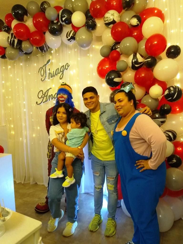 Munequita Pompita y Payaso Pikorete en Cumpleaños de Thiago Andrés en Kissimmee FL