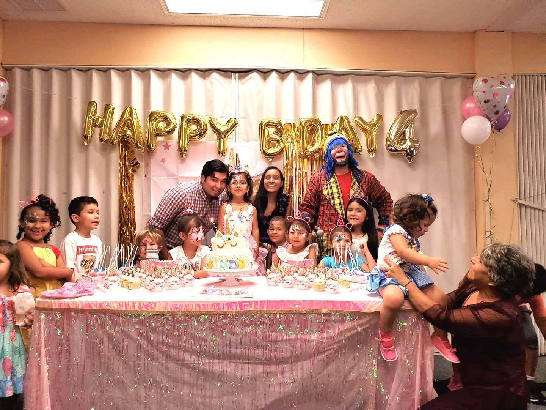 Payaso Pikorete y Muñequita Pompita en Cumpleaños de Sandra en Middleburg FL