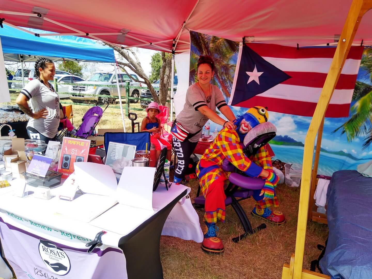Rosa's Nature Healing Center Payaso Pikorete 2do Festival Borinquen Killeen TX