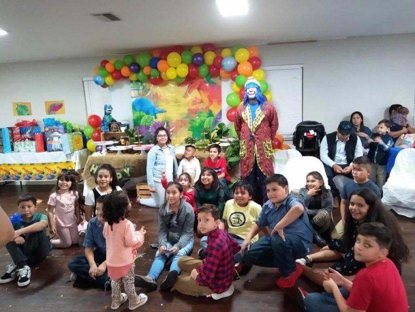Payaso Pikorete En Tampa Fl Celebrando los 5 añitos de David con Muñequita Pompita