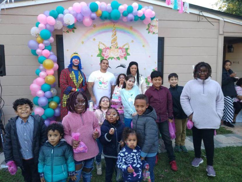 Payaso Pikorete celebrando los 5 añitos de Valerie en Jacksonville Fl con la Muñequita Pompita 1