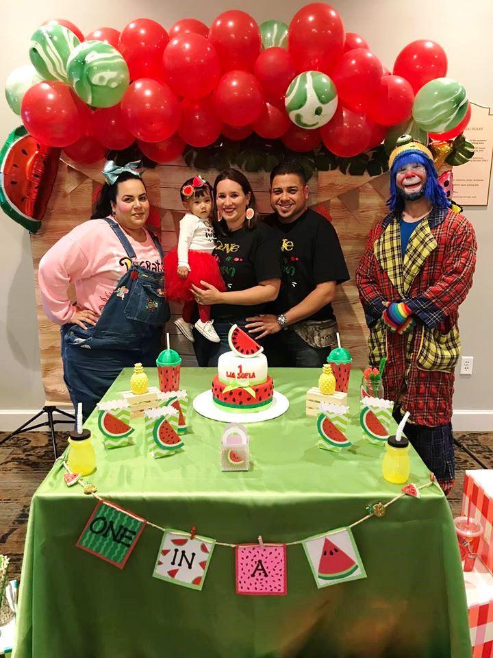 Muñequita Pompita y Payaso Pikorete en Kissimmee Fl Celebrando Cumpleaños de Lía Sofía 2