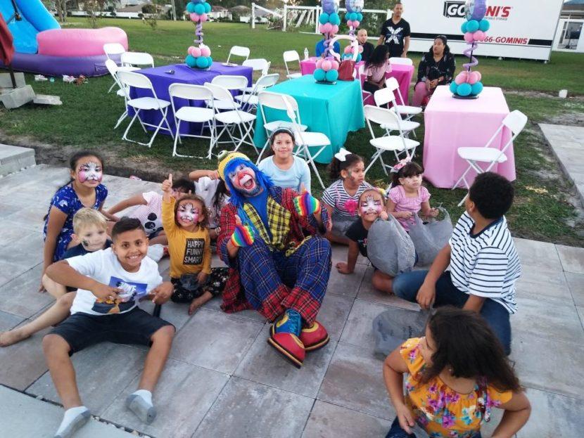 Payaso Pikorete y Muñequita Pompita en Lakeland Fl en el cumpleaños de Frandieliz